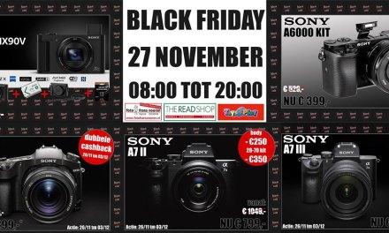 Super BlackFriday aanbiedingen bij Foto Frans Nooren The Readshop en een extra BlackFriday koopavond