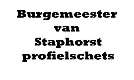En zo ziet de nieuwe burgemeester van Staphorst er uit
