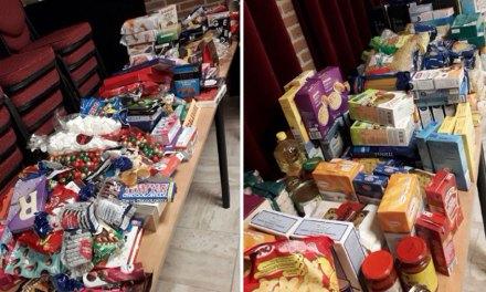 Kerstpakkettenactie van Hervormde gemeente de Rank en Gereformeerde kerk de Bron, Staphorst-Rouveen een groot succes!