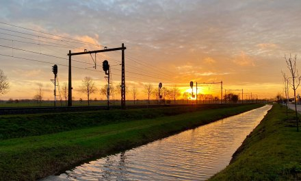 Mooie zonsopgang gistermorgen