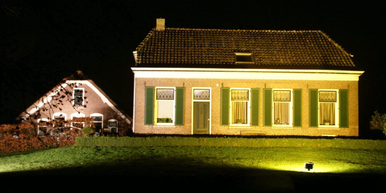 Mastenbroek in het licht. Lichtroute langs boerderijen en andere objecten