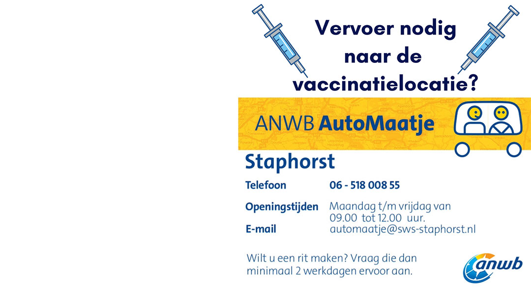 Vervoer naar vaccinatielocatie met ANWB Automaatje