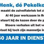 Henk Knoll is 40 jaar in dienst bij Rouveen Kaasspecialiteiten vandaag.