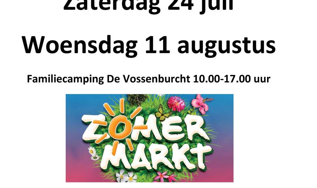 Zomermarkt op familiecamping De Vossenburcht