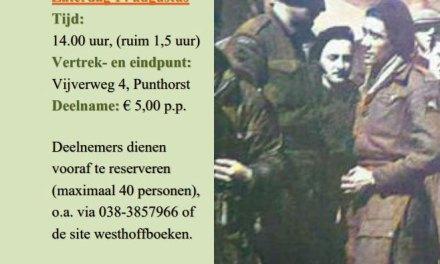 Wandeling 'Zuidflank Operatie Amherst' in Boswachterij Staphorst' o.l.v. gids