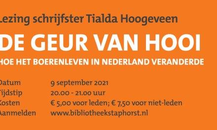 Lezing Tialda Hoogeveen – De geur van hooi