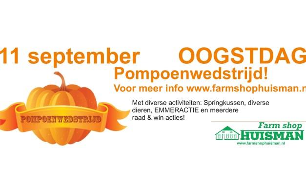 Pompoenwedstrijd en Emmeractie bij Farmshop Huisman (11 september)
