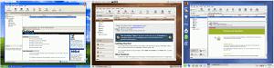 Comparativa entre escriptoris de XP (privatiu), Ubuntu i SuSE (lliures)