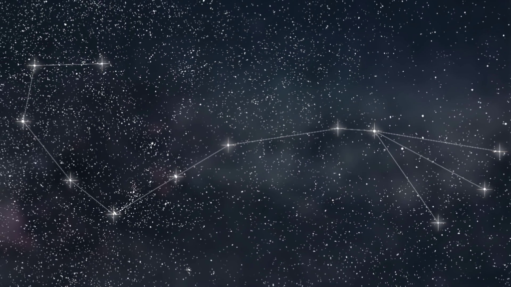 Scorpio Constellation. Zodiac Sign Scorpio constellation lines
