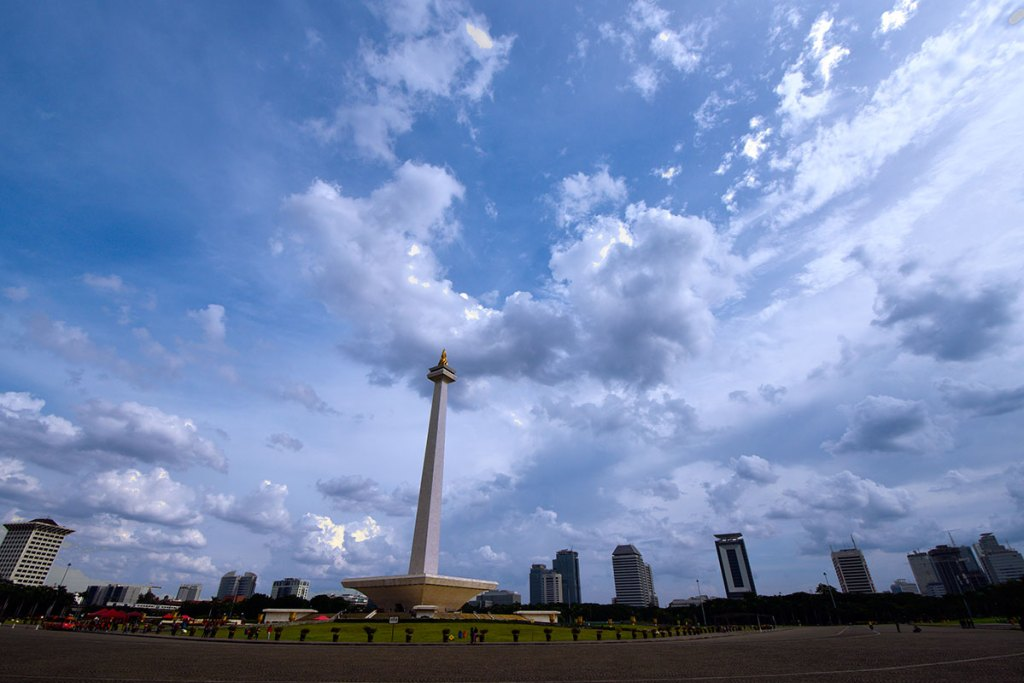 The National Monument is a 132 m tower in the centre of Merdeka Square, Central Jakarta, symbolizing the fight for Indonesia. It is the national monument of the Republic of Indonesia, built to commemorate the struggle for Indonesian independence.