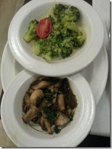 brocoli en champignons