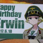 エルヴィン誕生日ポストカード和泉屋米穀店大洗