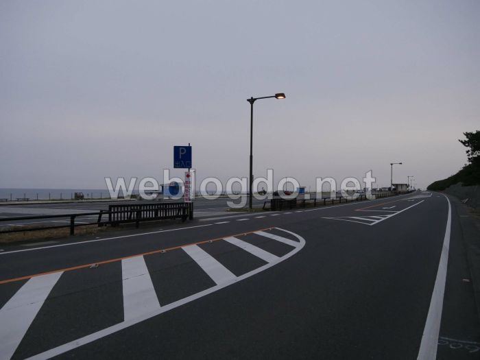 大洗海岸通り看板