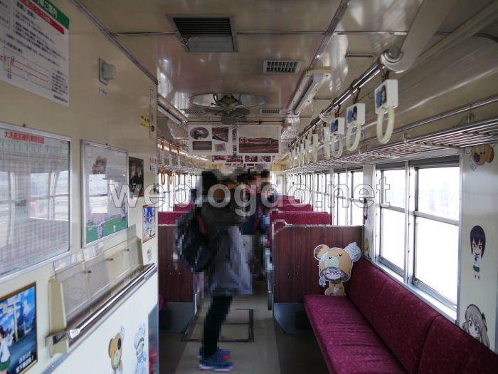 ガルパン列車Ⅳ号車内装