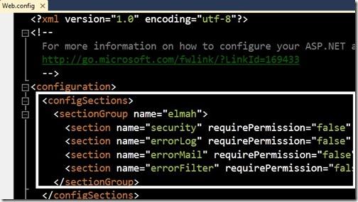 ElMAH configurado en el Web.config