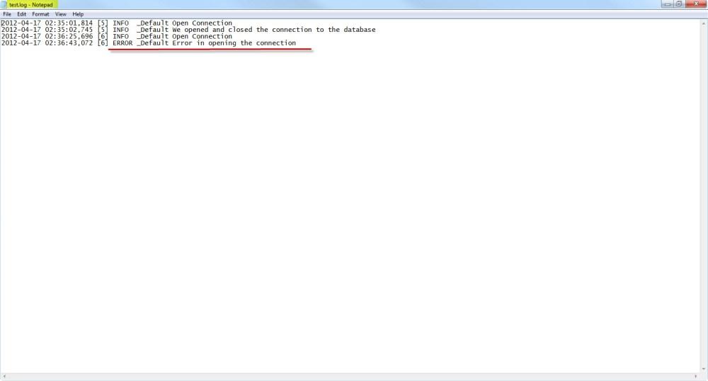 Log4Net with ASP.NET 3.5  (6/6)