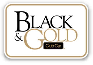 2014 Black Gold Button - Custom Makeover for your Club Car Precedent