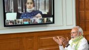 Prime Minister Narendra Modi interacted with Sarpanchs of Gram Panchayats throughout the country on the occasion of National Panchayati Raj Day 2020