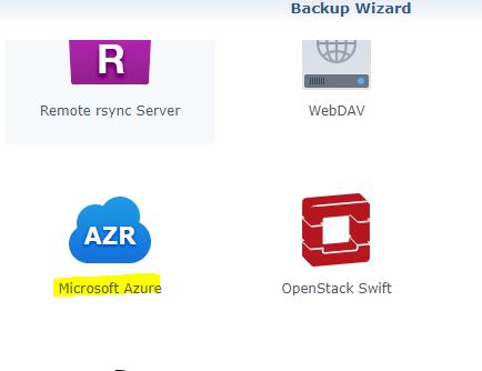 Select Azure