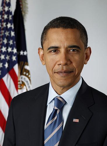 A foto oficial do 44º presidente dos Estados Unidos, Barack Obama, a primeira feita numa câmera digital