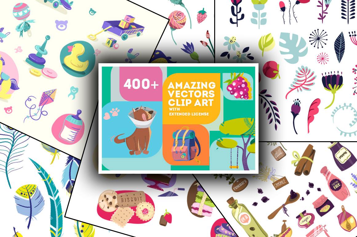 400 amazing vector clip