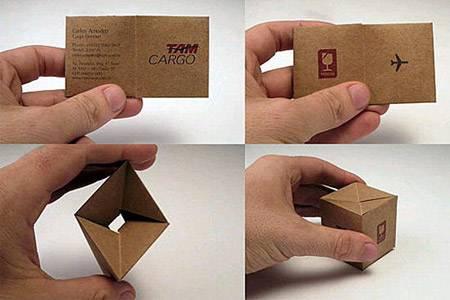 Kargo firmasına ait bir kartvizit örneği