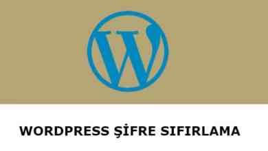 Photo of WordPress Şifre Sıfırlama
