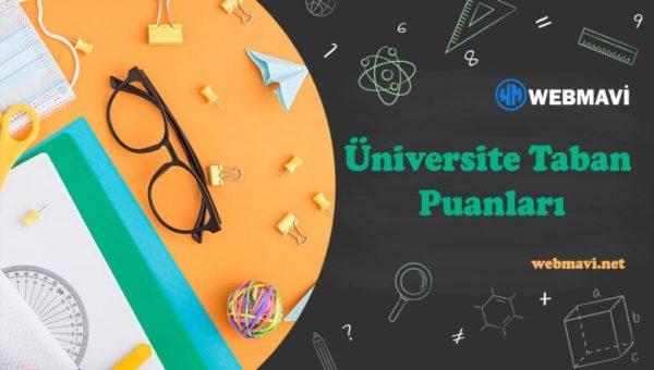 Pamukkale Üniversitesi 4 Yıllık Taban Puanları