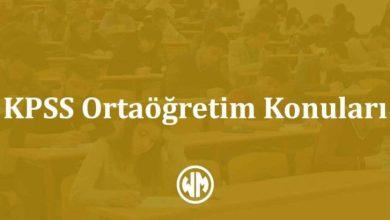 Photo of KPSS Ortaöğretim Konuları