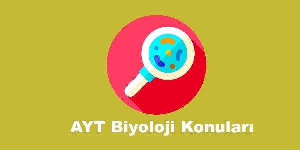 AYT Biyoloji Konulari