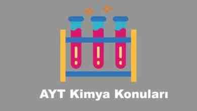 AYT Kimya Konulari