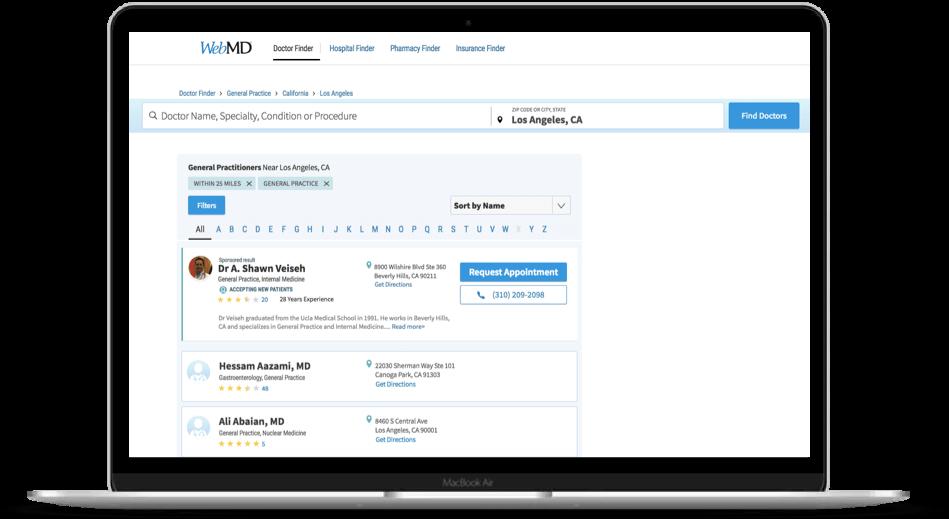Directory Enchanted Profile - WebMD Enhanced Profile