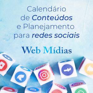 calendário de postagens e conteúdo para rede social