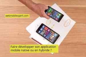 developper application moibile native ou en hybride