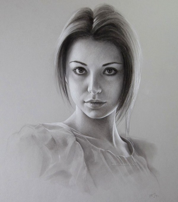 Beautiful And Realistic Portrait Drawings Inspiration