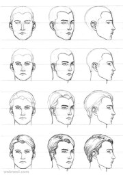 draw face - 25 step