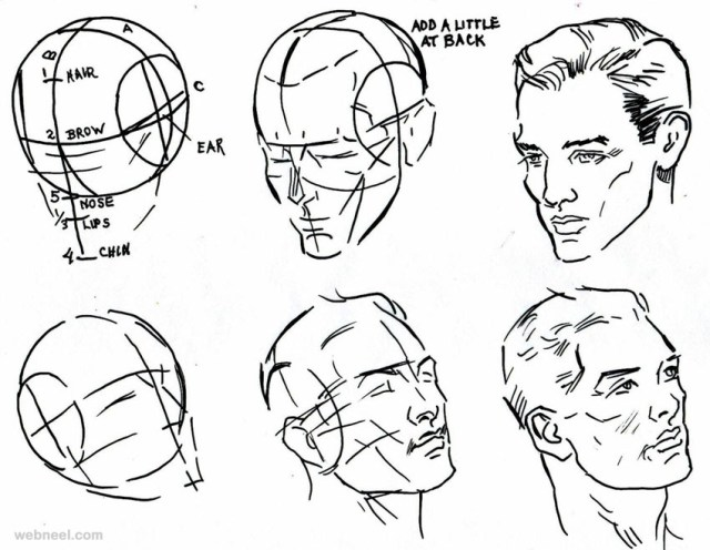 How to Draw a Face - 25 Step by Step Drawings and Video ...