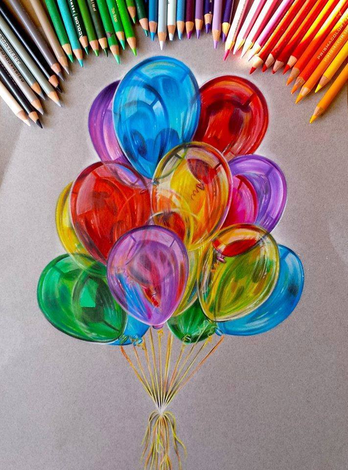 Things To Draw With Color : things, color, Balloon, Color, Pencil, Drawing, Jocelyn, Schmidt