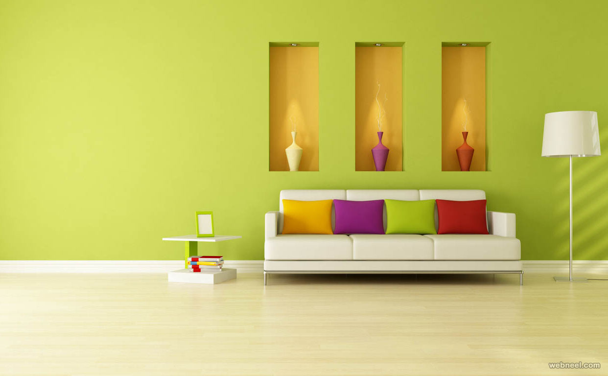 yellow paint ideas for living room photos of well decorated rooms 50 beautiful wall painting and designs bedroom green