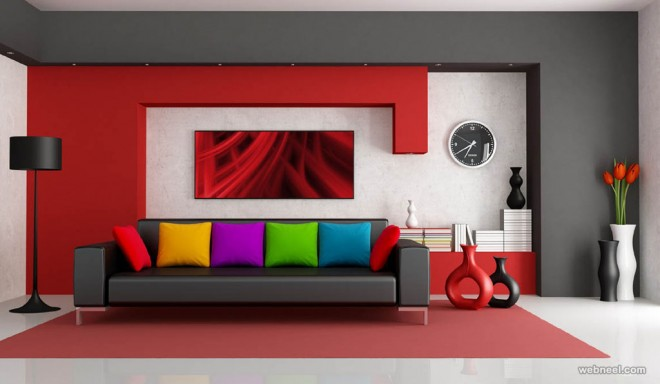 50 Beautiful Wall Painting Ideas And Designs For Living Room Part 45