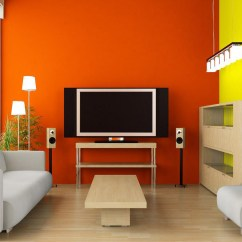 Orange Living Room Designs Traditional Ideas With Fireplace And Tv 50 Beautiful Wall Painting For Bedroom Color
