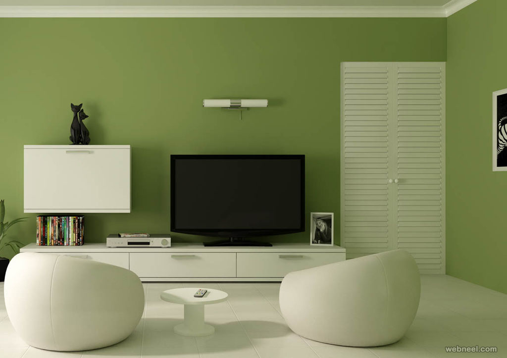 ideas for living room wall colours sectional images 50 beautiful painting and designs bedroom green paint