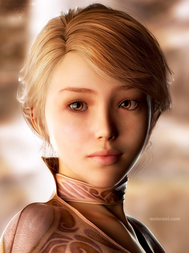 25 Fresh Cg Girl Models And 3d Character Designs For Your