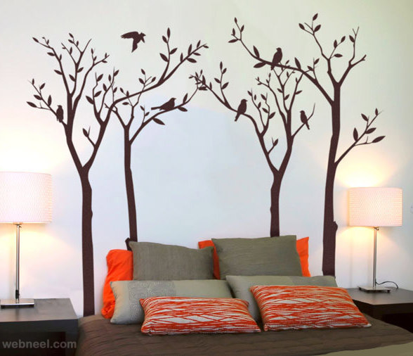 Wall Tree Painting For Bedroom