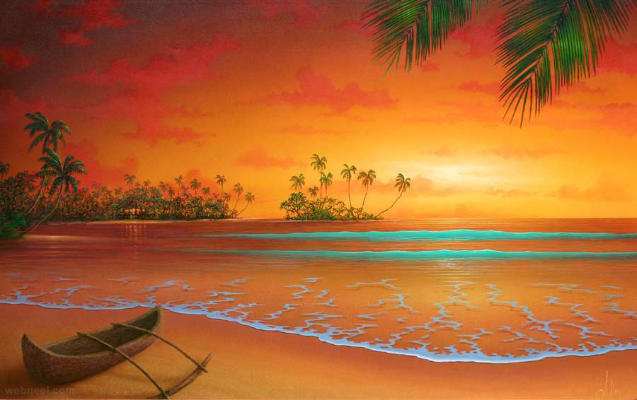 Florida Beach Fall Wallpaper 50 Beautiful Sunrise Sunset And Moon Paintings For Your