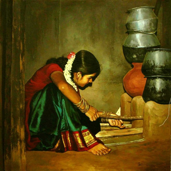 beautiful-rural-indian-india-tamil-nadu-ilayaraja-woman-women-oil-realistic-(1)