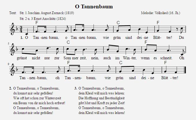 Weihnachtslieder Texte und Noten