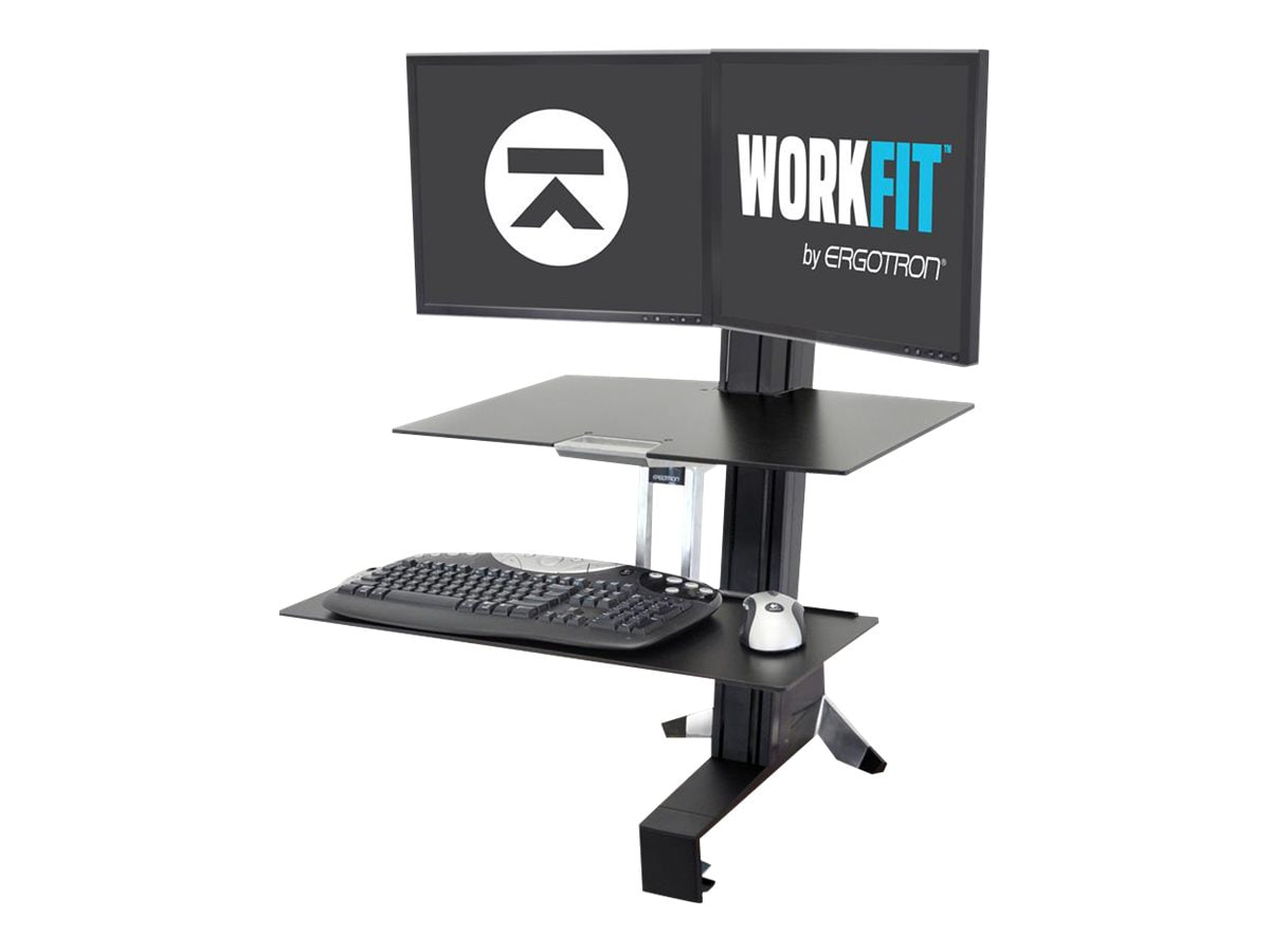 Ergotron WorkFitS Dual Monitor Sit Stand Workstation with