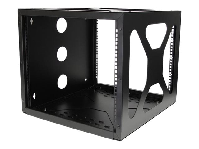startech com 8u wall mount rack for network switch side mounted