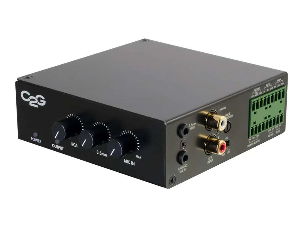 C2G 25/70V 50W Audio Amplifier (Plenum Rated)